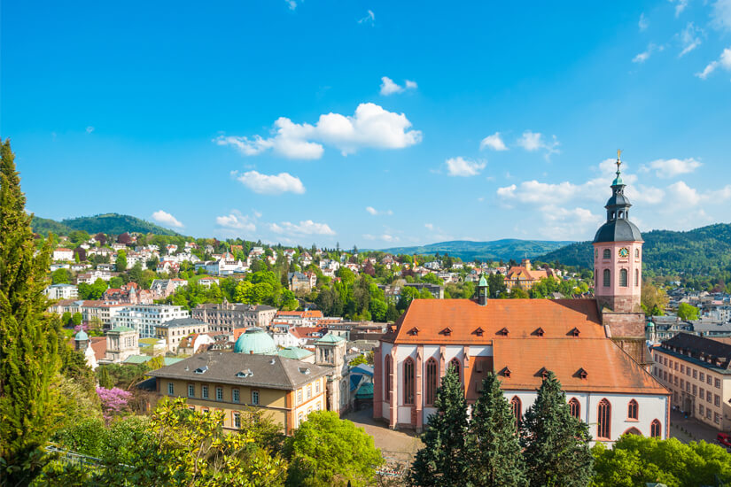 Baden-Baden mit Blick auf die Stiftskirche