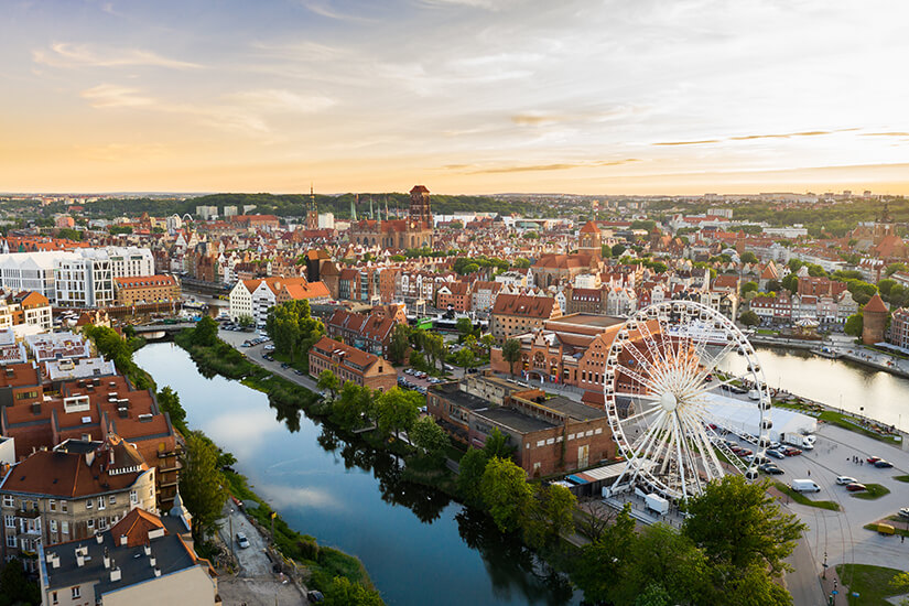 Blick über die Altstadt von Danzig