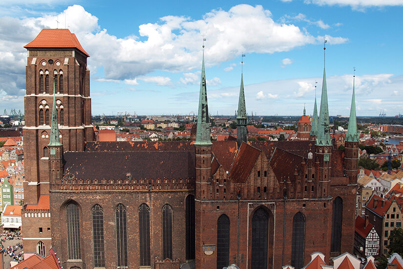 Altehrwürdige Marienkirche in Danzig