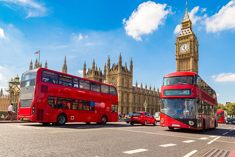 Mit Bussen unterwegs in London
