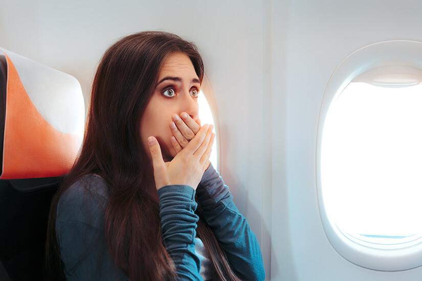 Blähungen im Flugzeug sind unangenehm