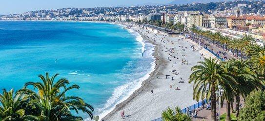 Nizza an der Côte d'Azur