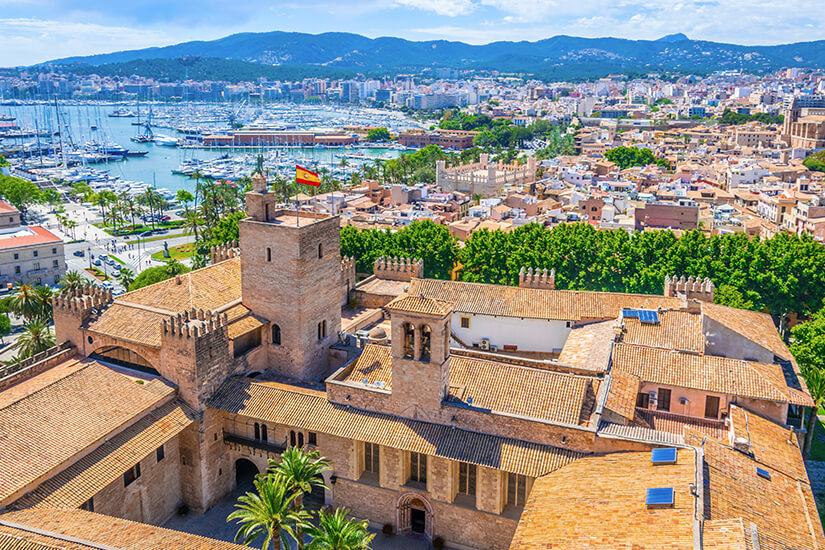 Der Palacio Real de la Almudaina von oben