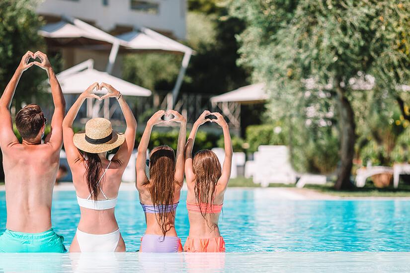Urlaubsfreuden im Familienresort