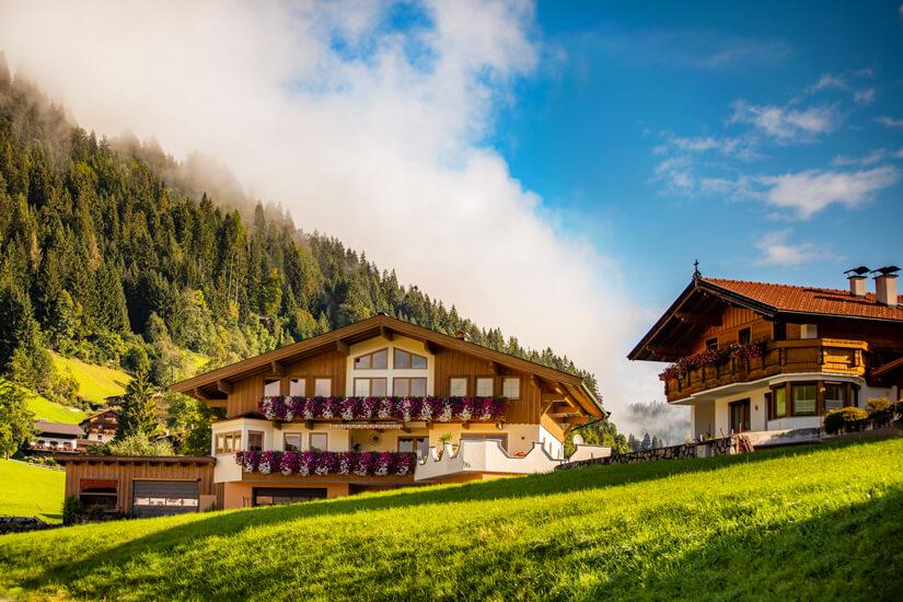 Ein typisches Hotel Garni in den Bergen