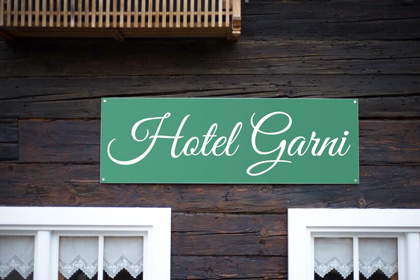 Hotel Garni ist mehr als nur ein Name