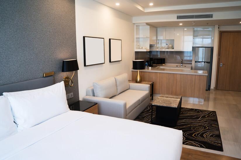 Studio-Apartment mit Küchenzeile