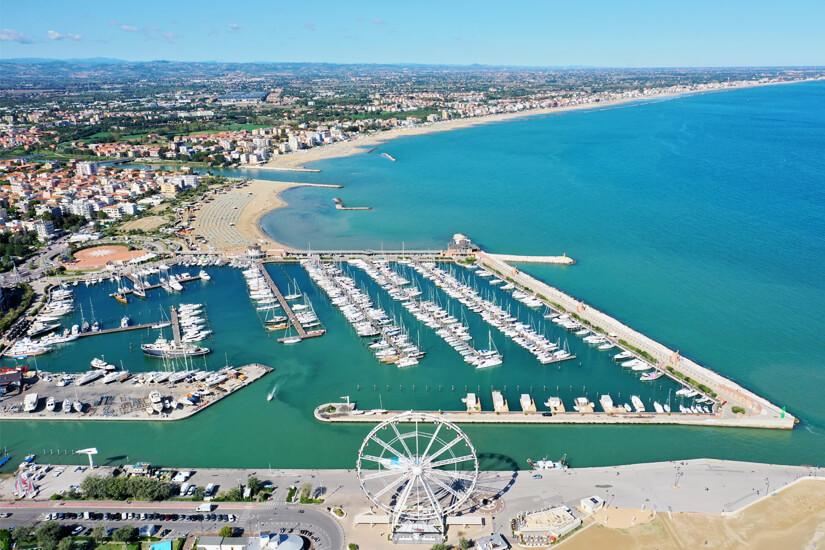 Luftaufnahme von Rimini
