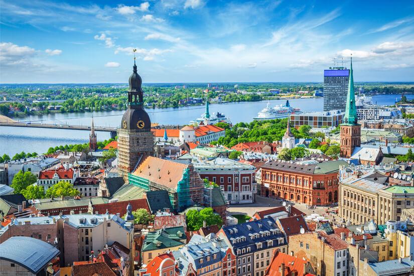Blick über Riga und die Altstadt