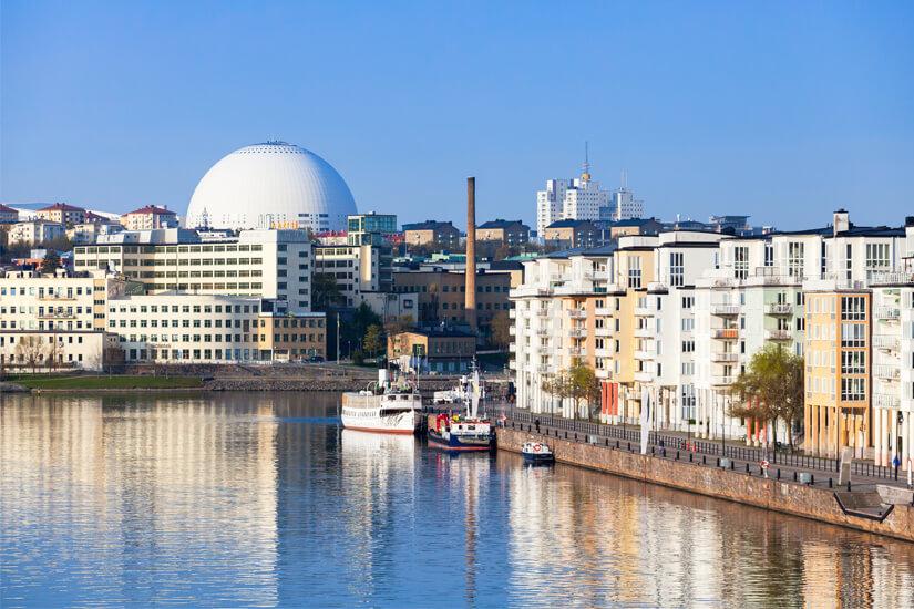 Nicht zu übersehen: der Ericsson Globe