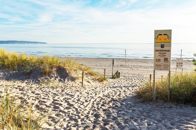 Zugang von den Dünen zum Strand in Prora