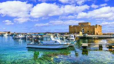 Kastell im Hafen von Paphos