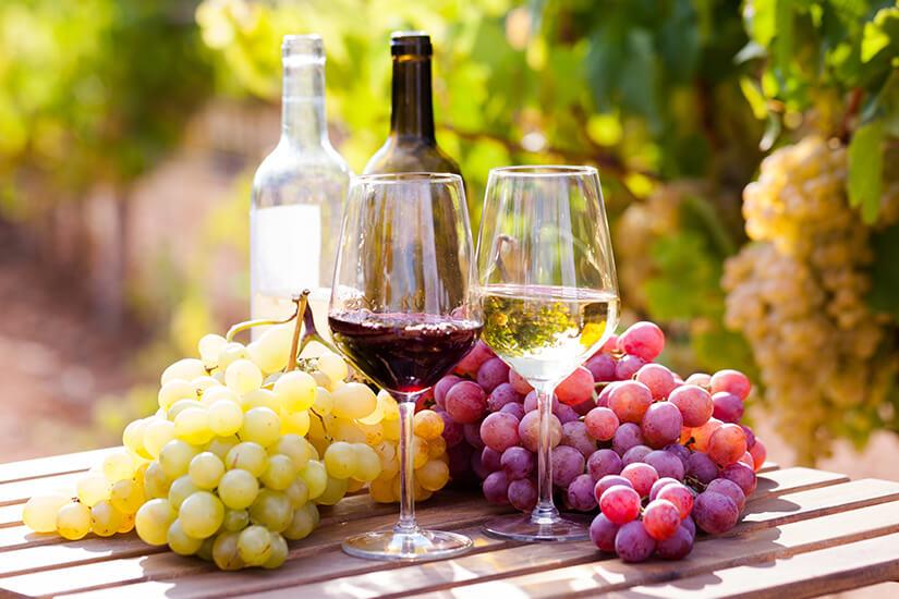 Rot- und Weisswein aus Italien