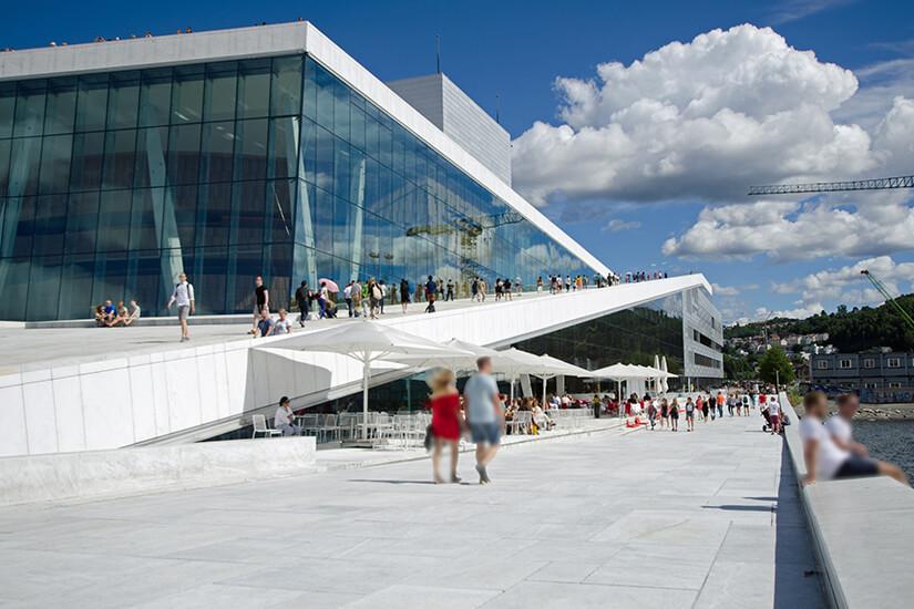Das moderne Opernhaus von Oslo