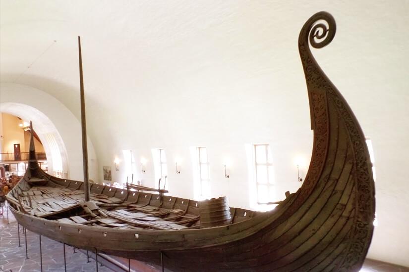 Oseberg-Schiff aus dem Wikingerschiffsmuseum in Oslo