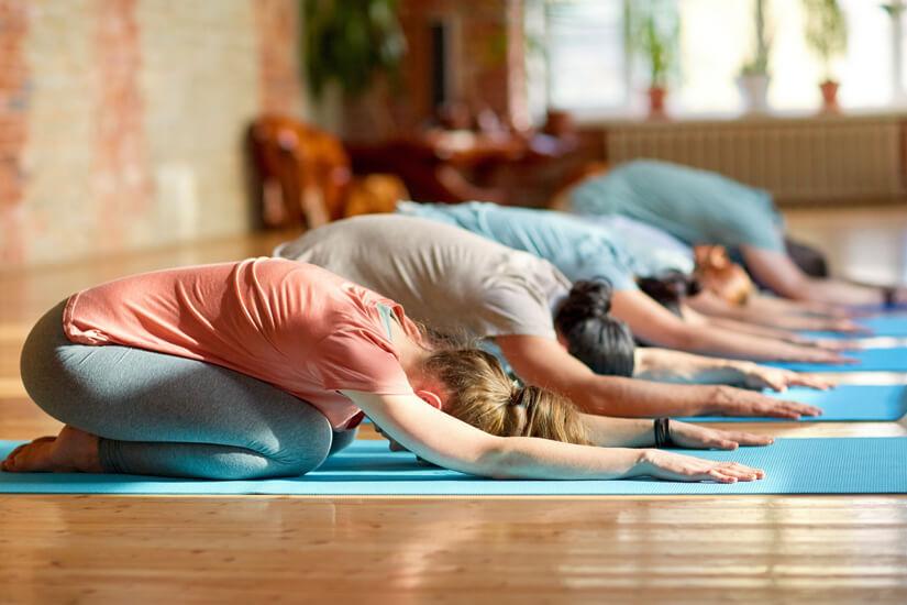 Yoga als Bestandteil des Retreat