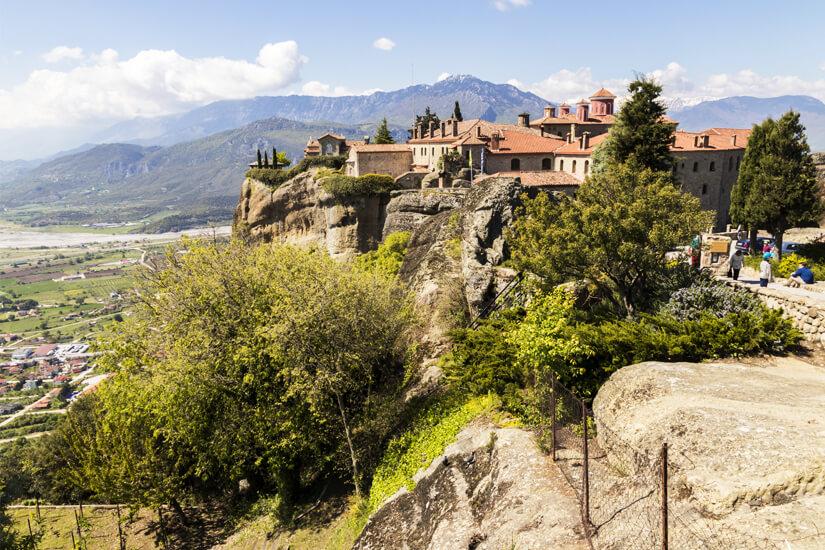 Weg zum Meteora-Kloster Agios Stefanos