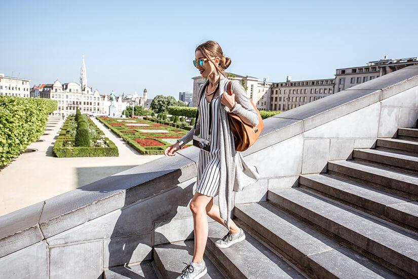 Spaziergang am Mont des Arts