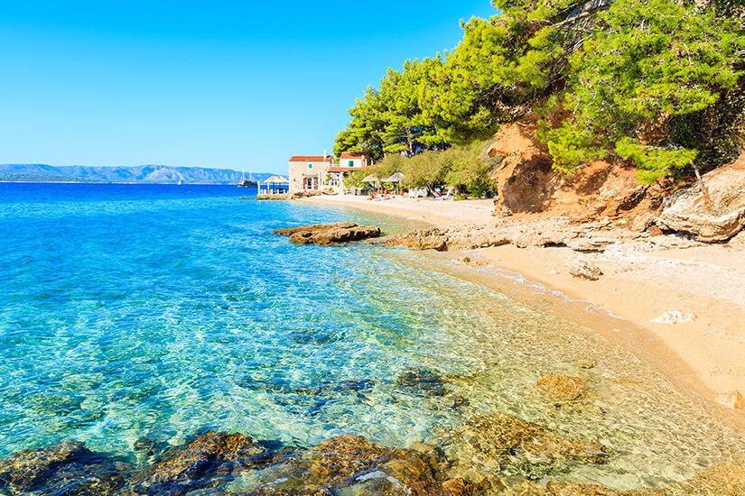 Strand auf der Insel Brac