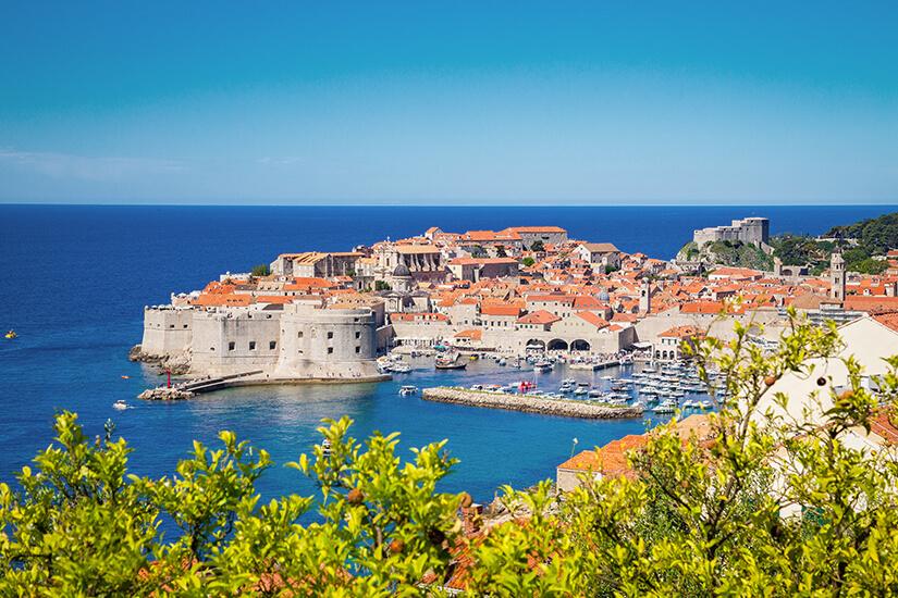 Altstadt von Dubrovnik im dalmatinischen Teil von Kroatien