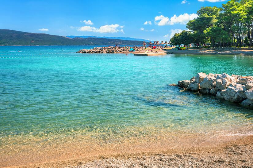 Badebucht auf der Insel Krk