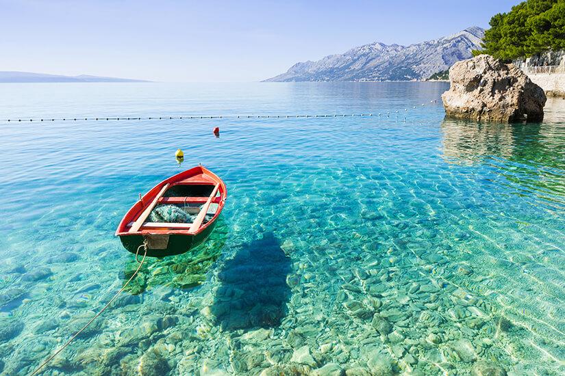 Bucht von Brela an der Makarska Riviera