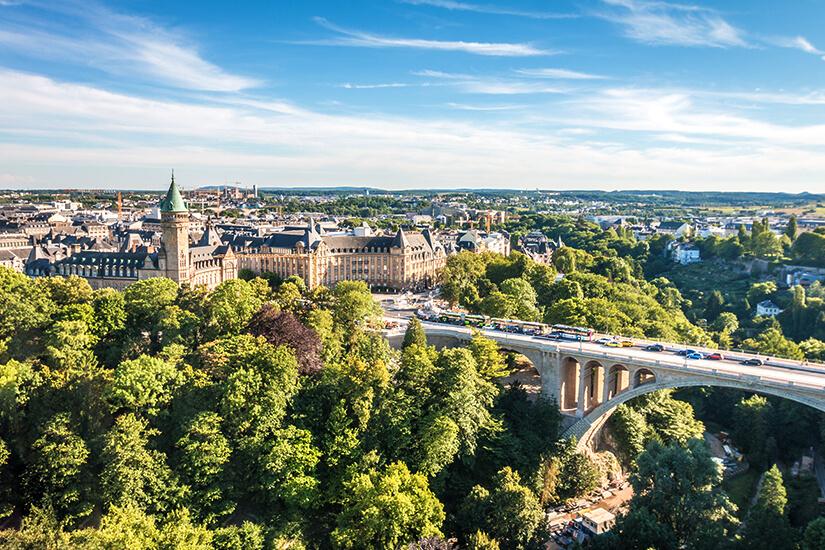 Blick auf Luxemburg-Stadt