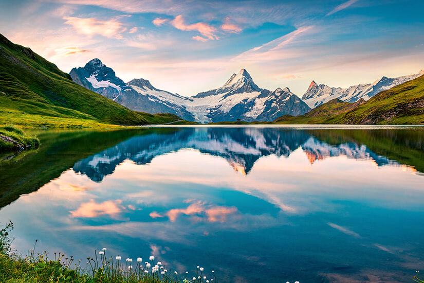 Schweiz Bergsee