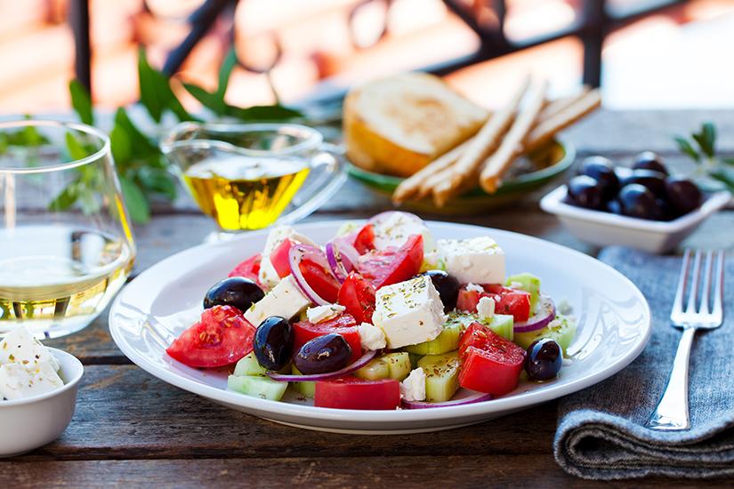 Typisch griechischer Bauernsalat