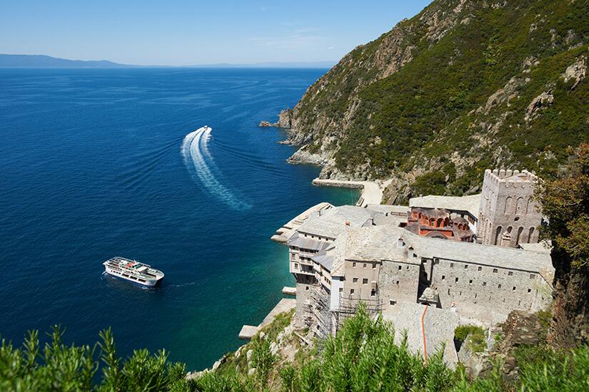 Kloster am Berg Athos auf der Insel Athos