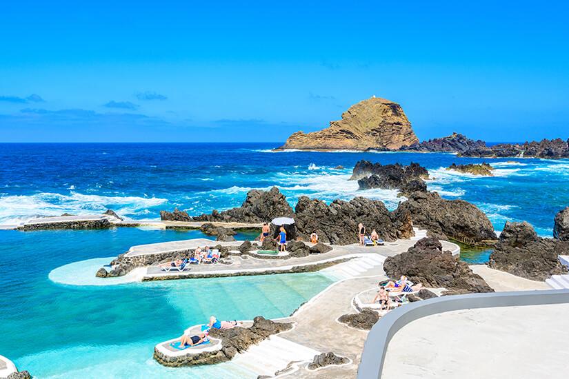 Vulkanische Pools auf Madeira