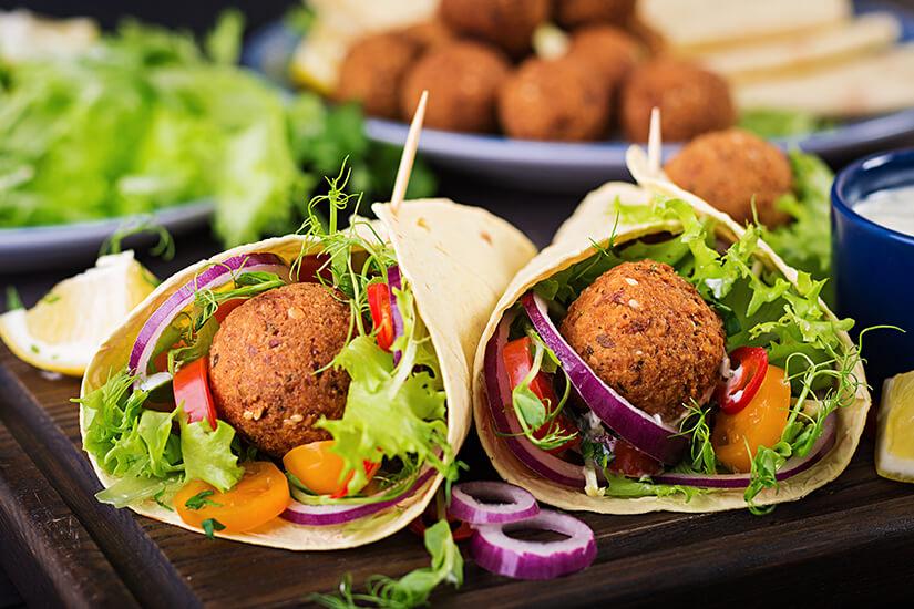 Falafel sind eine gute vegane Alternative