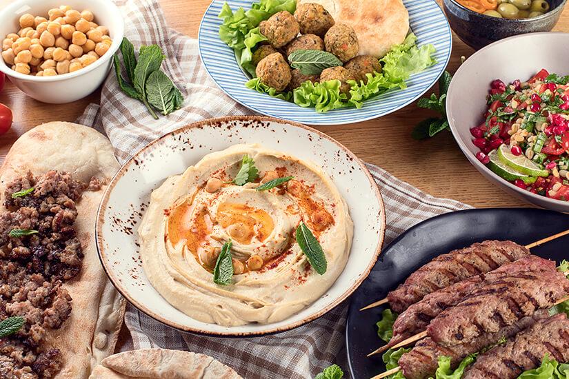 Verschiedene kleine, orientalische Speisen