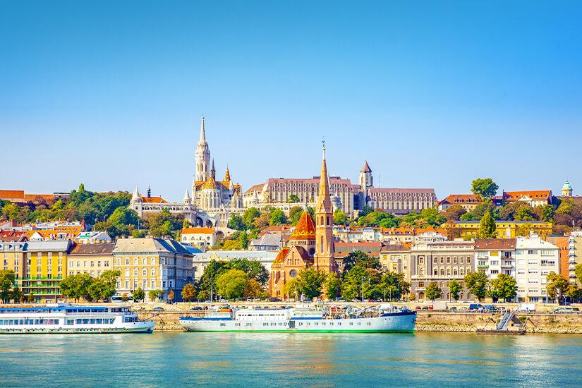 Blick auf Budapest in Ungarn