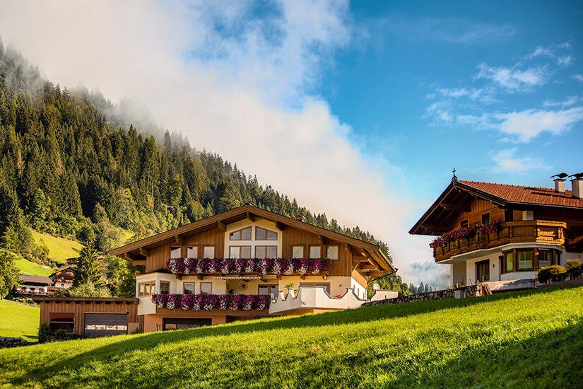 Pension in den Alpen