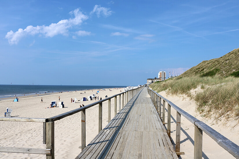 Strand in Westerland auf Sylt