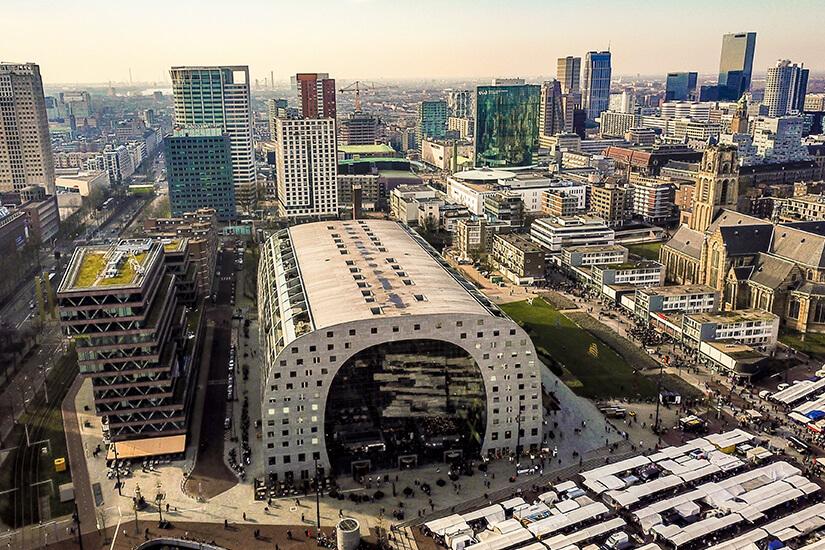 Die imposante Markthalle Rotterdams