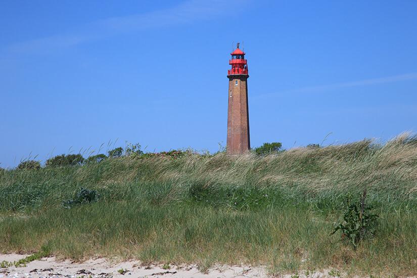 Der Fluegger Leuchtturm im Südosten Fehmarn