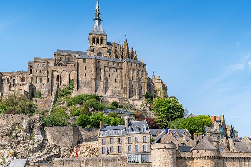 Imposante Anlage von Mont-Saint-Michel