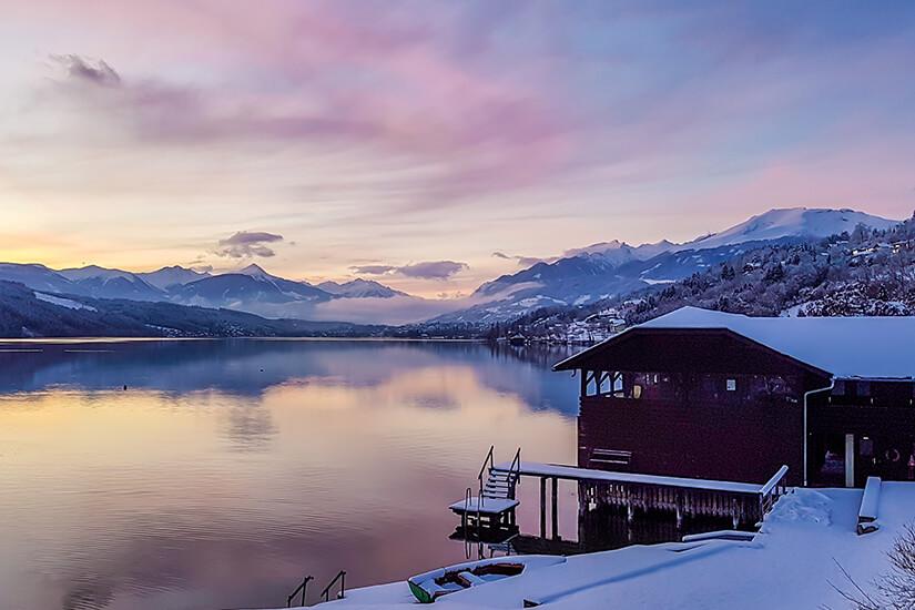 Winterliche Stimmung am Millstaetter See