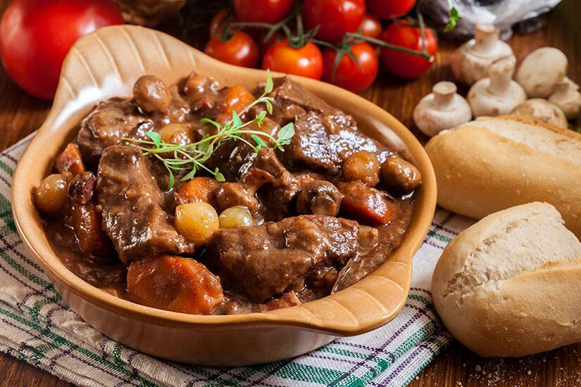 Fuer Freunde des Fleischgenusses: Bœuf bourguignon