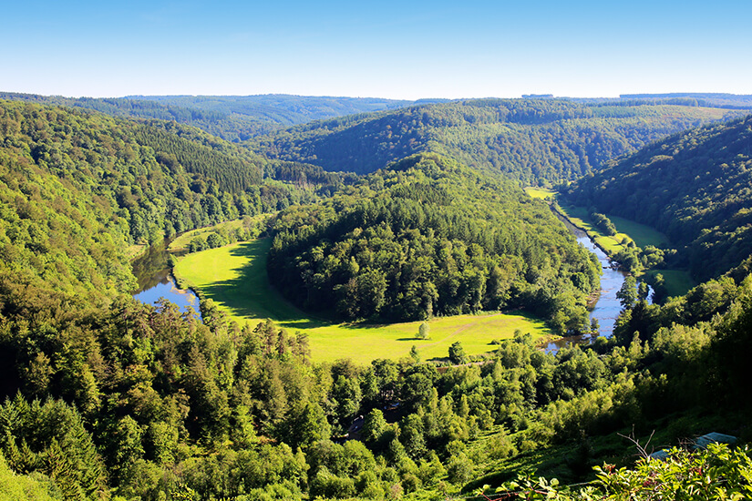 Huegelige Ardennen