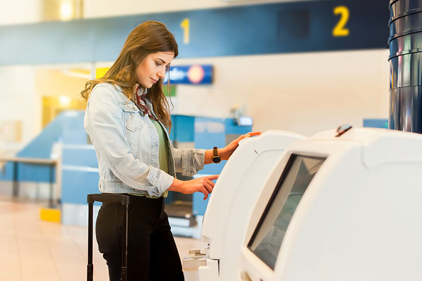 Check-in am Automaten