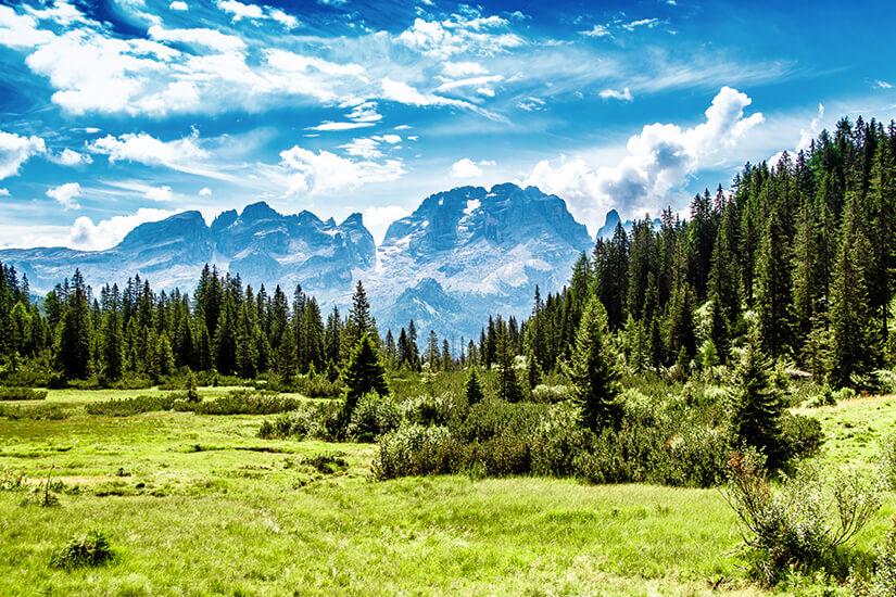 Bergwelt aus dem Bilderbuch: Die Dolomiten