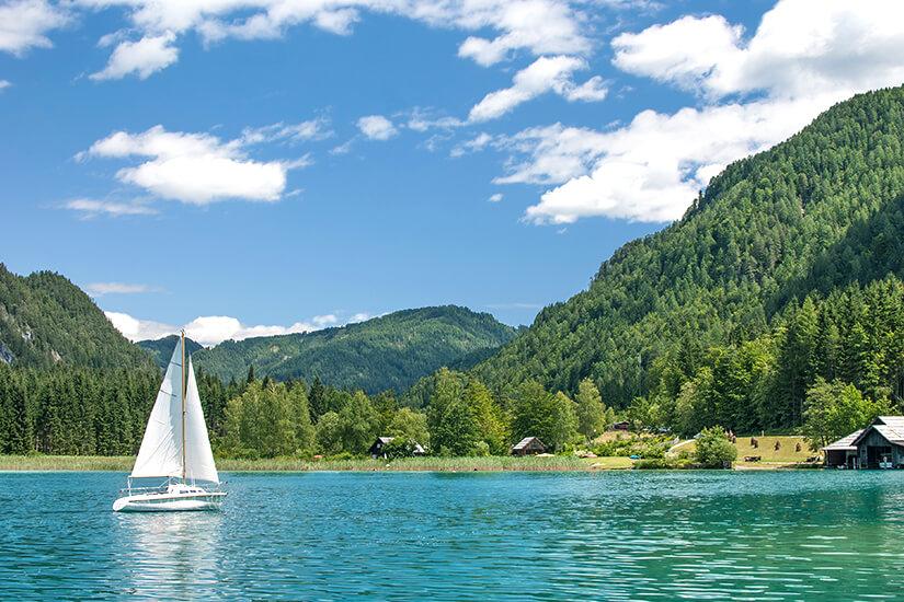 Segelboot auf dem Weissensee