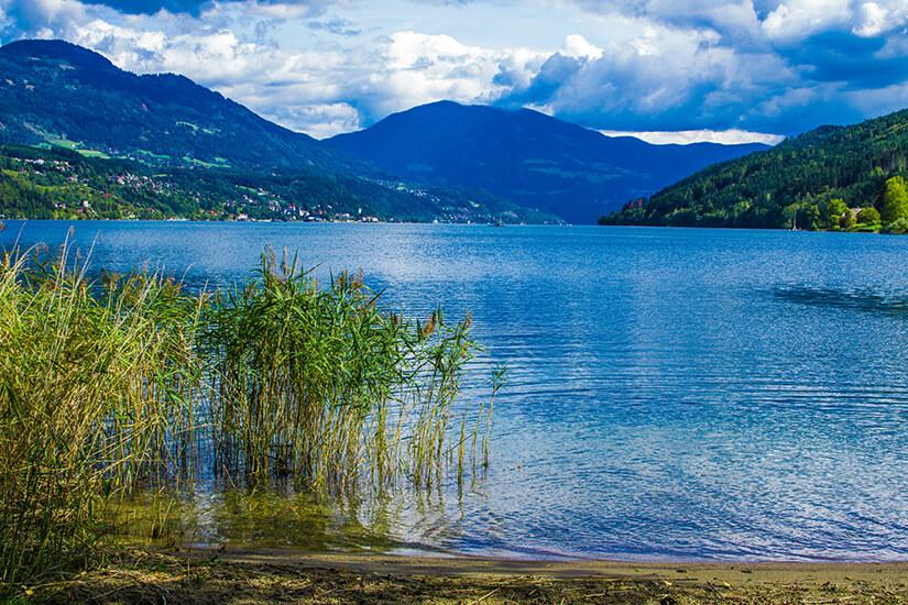 Millstaetter See mit Blick auf die Berge