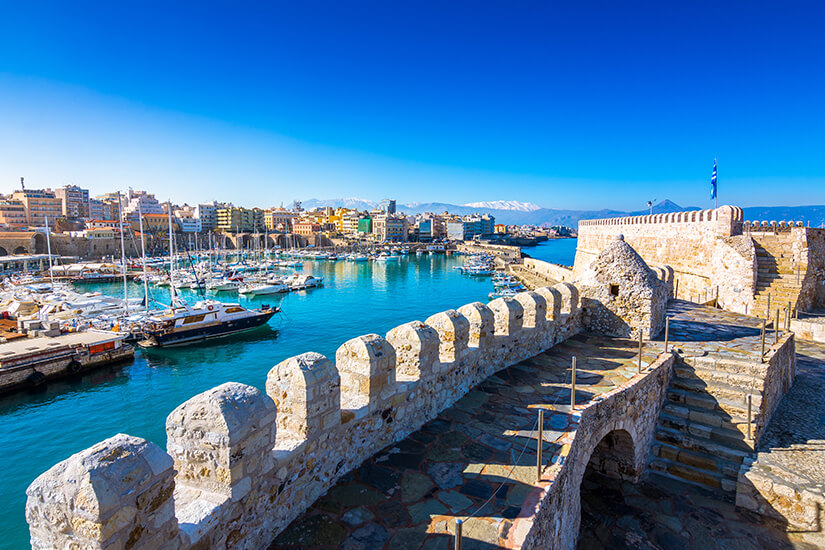 Hafen in Heraklion auf Kreta