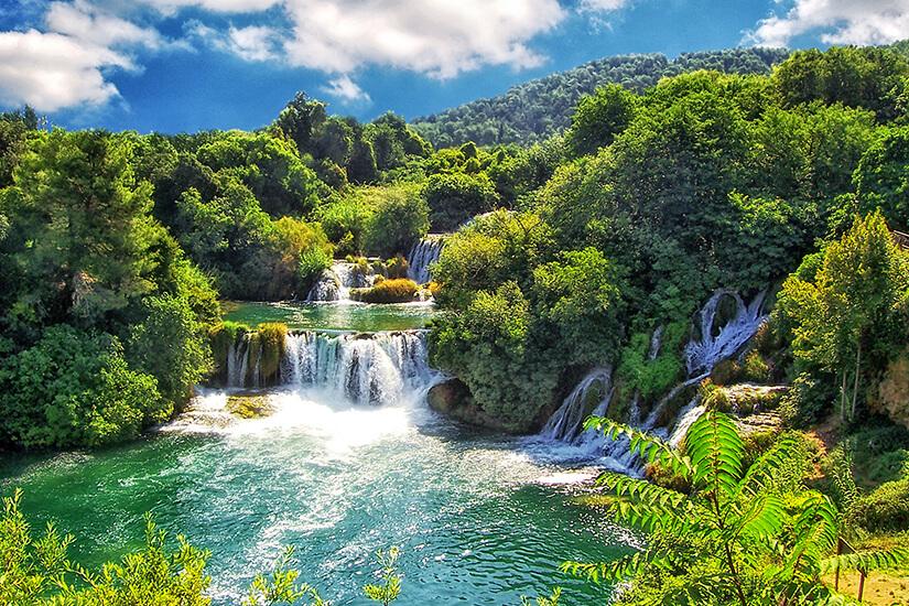 Wasserfaelle im Krka Nationalpark