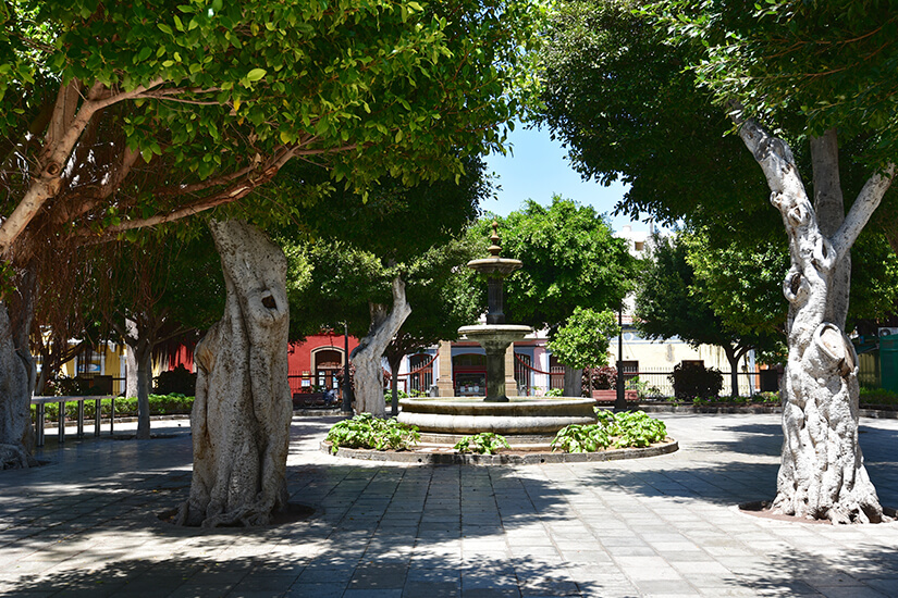 Die Plaza de Santiago in Galdar