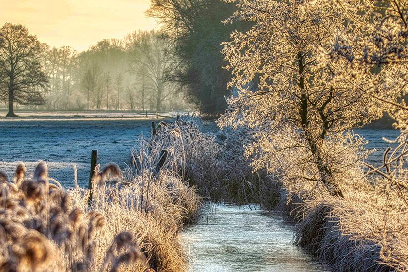 Winterzauber am Fliess im Spreewald